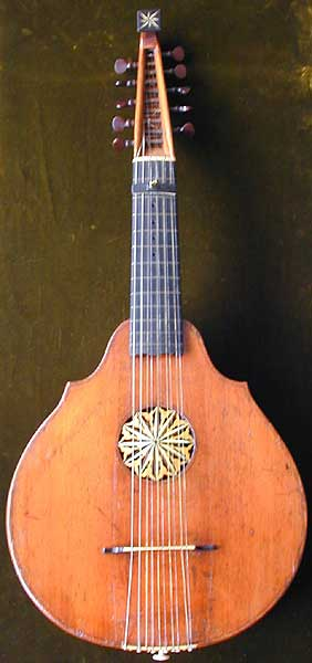 Early Musical Instruments, antique English Cittern by Longman