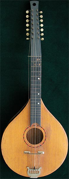 Early Musical Instruments, antique Thuringer Wald Zither or Cittern by Th. Heym