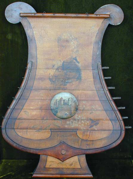 Early Musical Instruments, antique Oellers Thürzither, Doorbell Cittern by Oeller