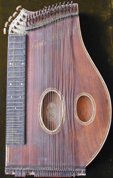 Early Musical Instruments, antique Konzertzither, Concert Cittern by Herman Trapp