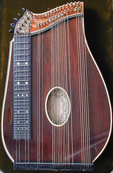 Early Musical Instruments, antique Konzertzither, Concert Cittern by Franz Halbmeier