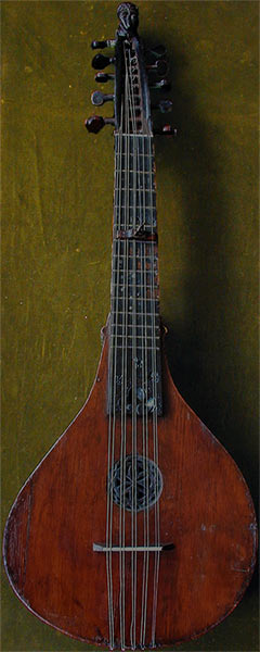 Early Musical Instruments, antique South German or Swiss Halszither, Neck Cittern, 1838