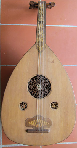 Early Musical Instruments, antique Oud by a Syrian Maker dated 1925-26