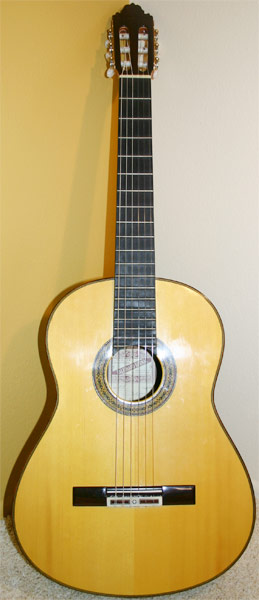 Early Musical Instruments, Classical Guitar by Valeriano Bernal dated 1999