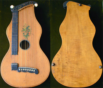 Early Musical Instruments, antique Romantic Cittern by Alois Suter dated 1879
